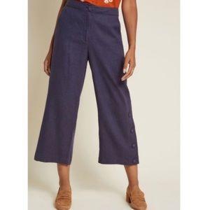 ModCloth Moon River 100% Linen Wide Leg Pants